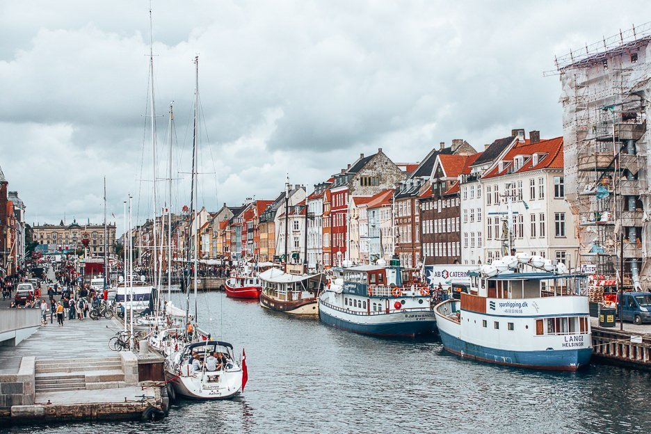 Colourful buildings lining Nyhavn in Copenhagen, Denmark - best hidden gems of Europe