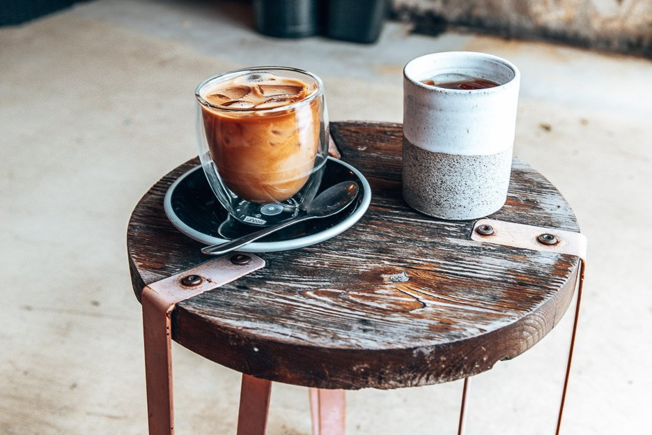 Cold brew and iced latte at Bunker Coffee, Brisbane CBD & inner suburbs