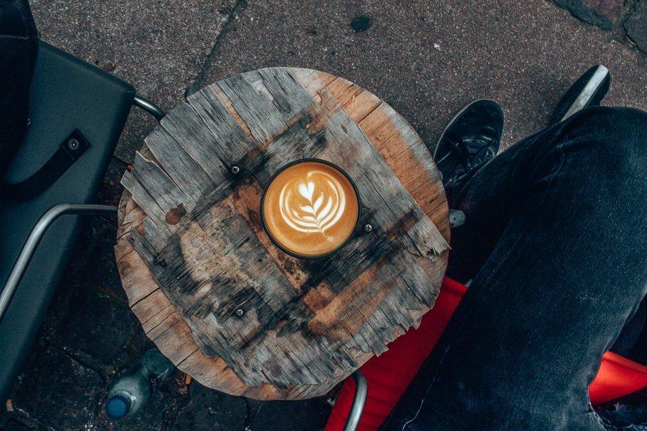 Latte at CUB Coffeebar - Copenhagen City Guide, Denmark