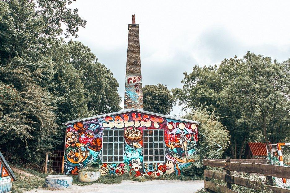 Graffiti art in Christiania - Copenhagen City Guide, Denmark