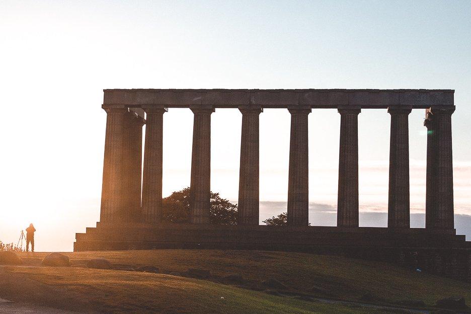 Sunset atop Calton Hill, Edinburgh