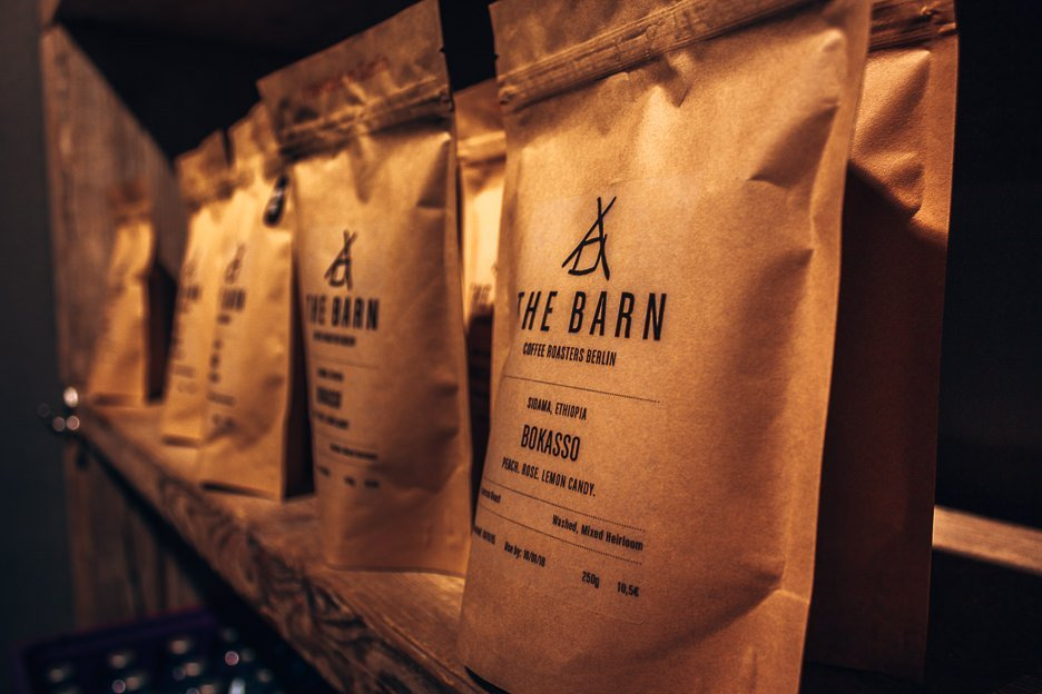 Coffee beans on sale at The Barn, Berlin Germany