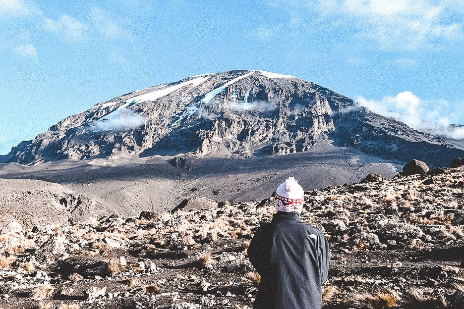Jasmine getting ready to hike to the top of Kili