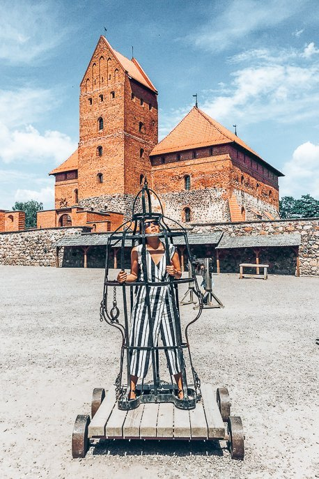 Trapped in a prisoner cell at Trakai, Vilnius Lithuania