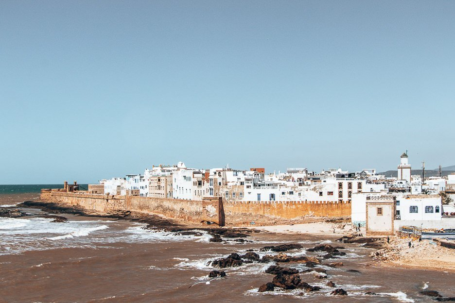 View of the town of Essaouira from Skala du Port, Morocco