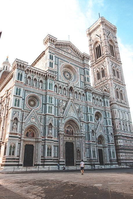 Walking in front of the Cathedral of Santa Maria del Fiore, Florence