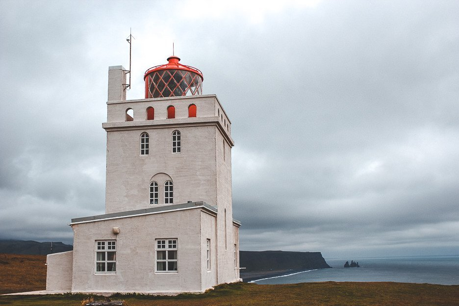 Tower at the seaside of Vik, Iceland