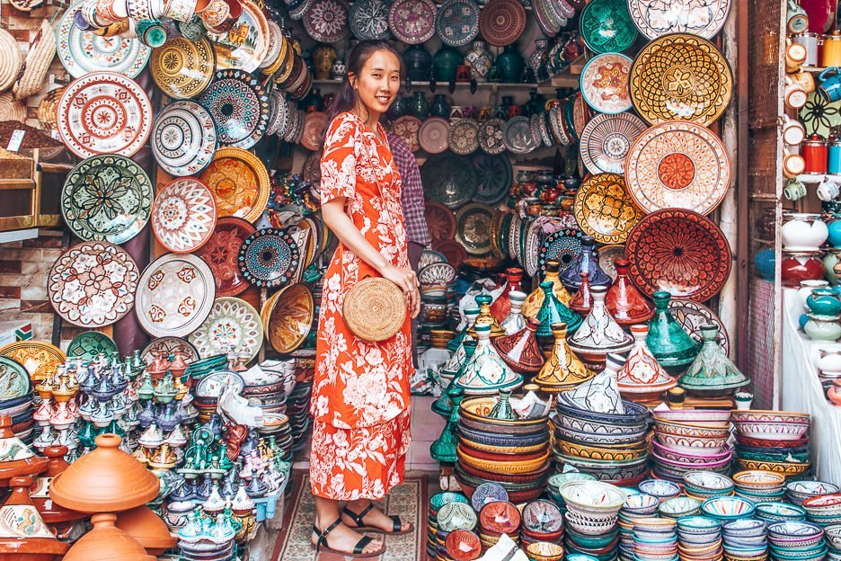 Instagram famous stall in Marrakech souk, Morocco