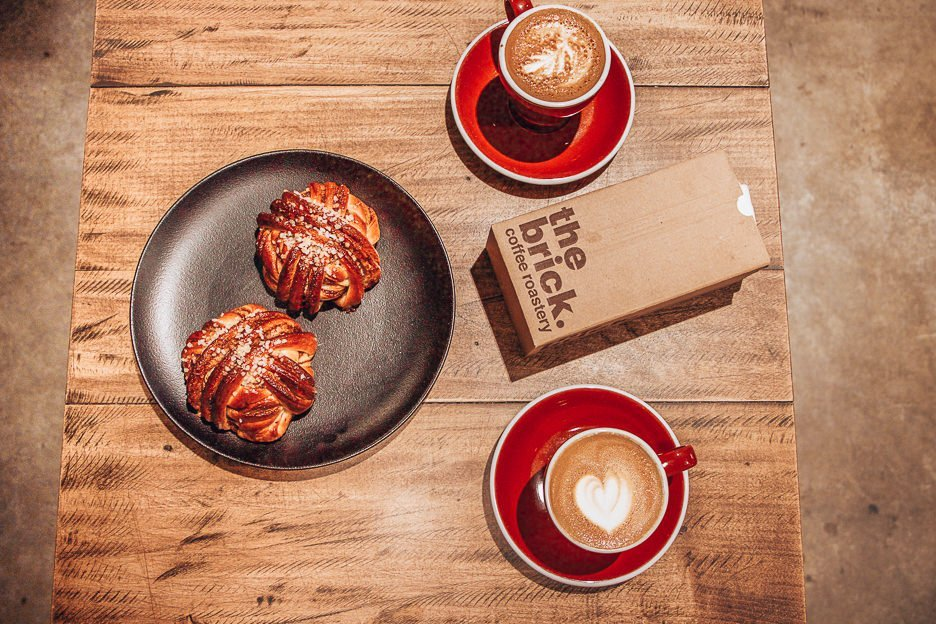 Flat whites and cinnamon scrolls at ROST Bakery, Tallinn
