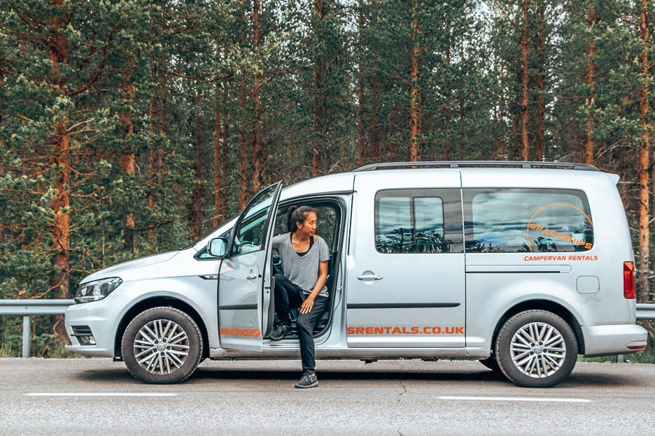 Taking a breather from driving our campervan in Europe, Road Trip