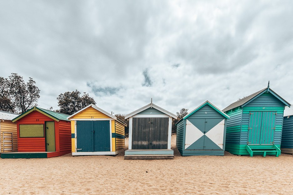 Brighton Bathing Boxes in Victoria, Australia