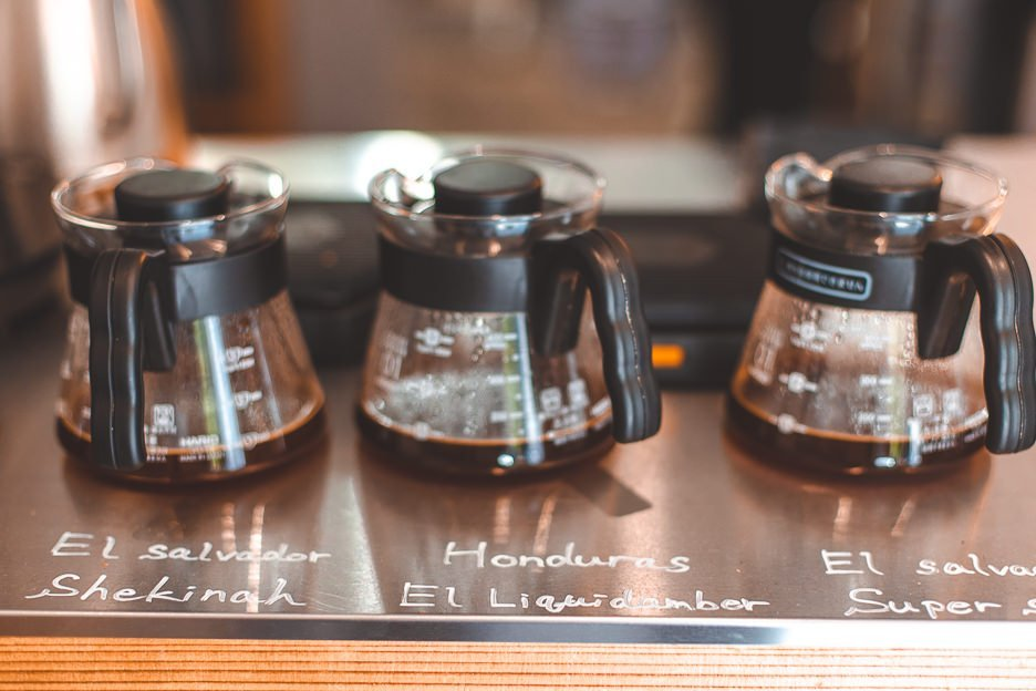 Batch brew ready to serve at Switch Coffee | Tokyo Coffee Guide