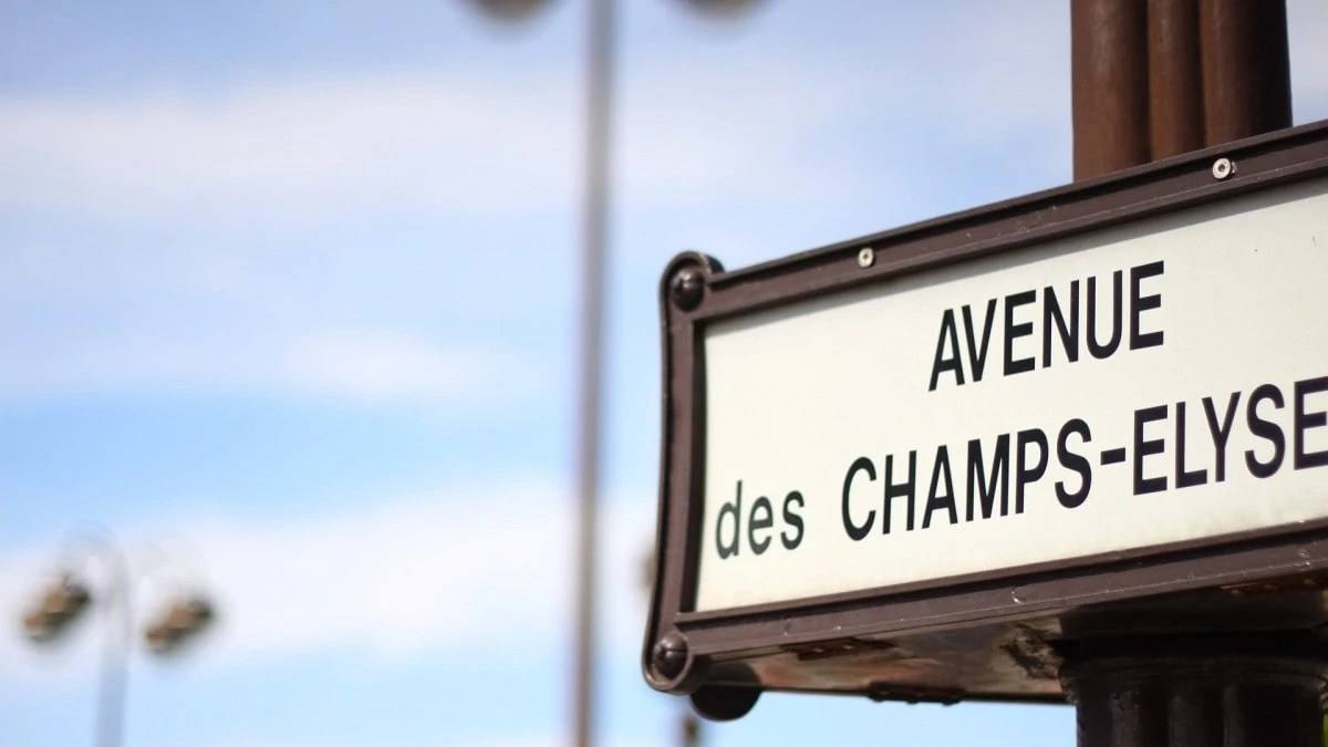 Walk down the Champs Elysees