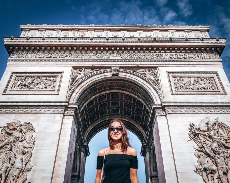 2 days in Paris - the Arc de Triomphe