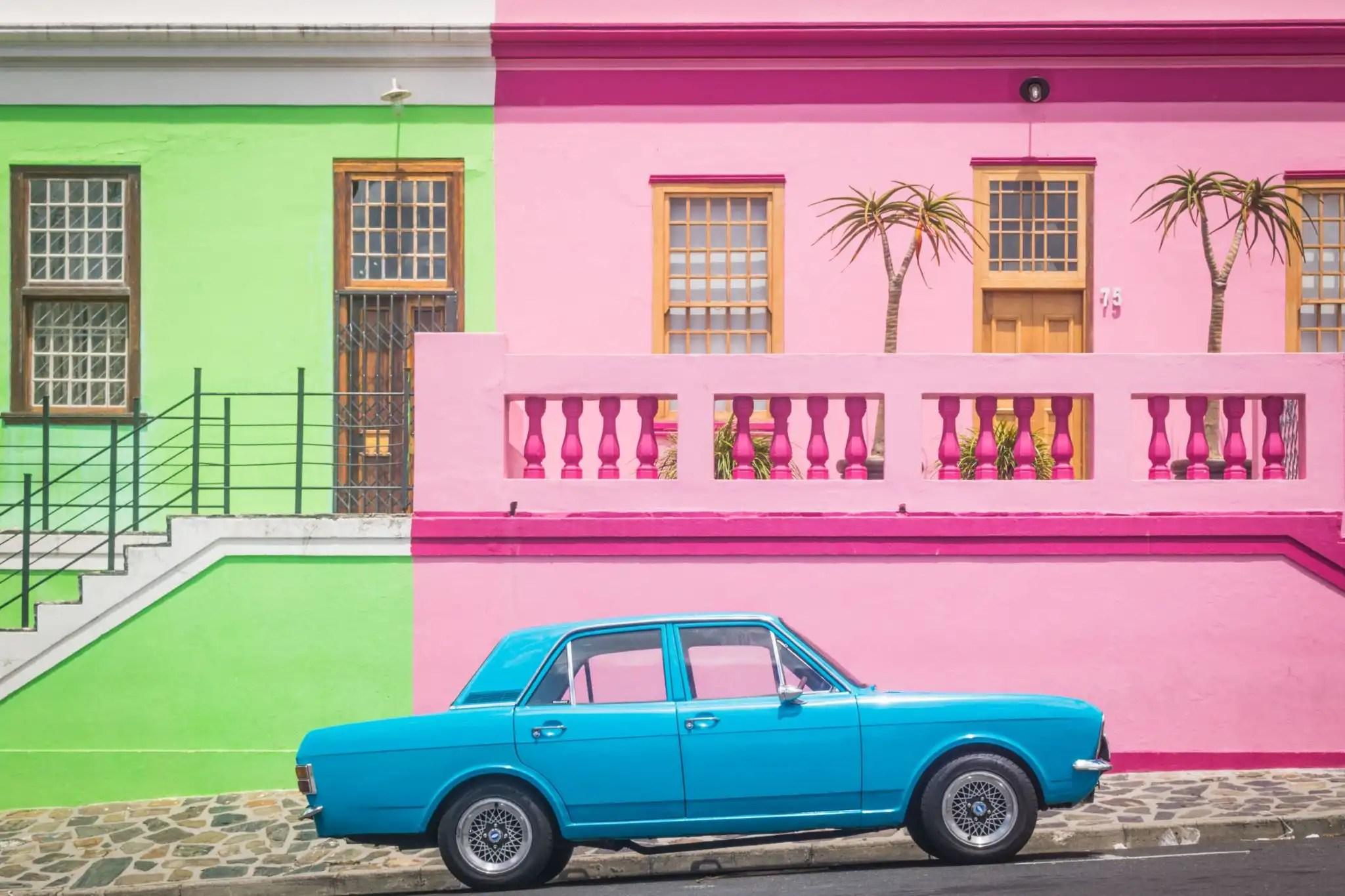 Bo Kaap colourful houses