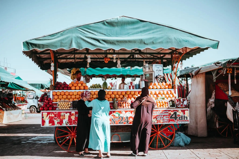 Marrakesh orange juice stand