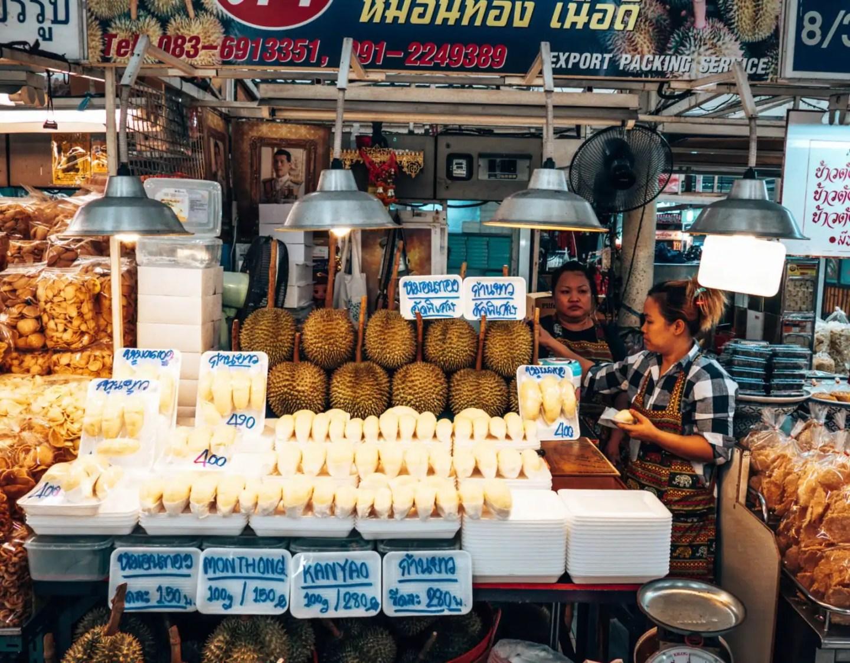Or Kor Tor Market. Durian.