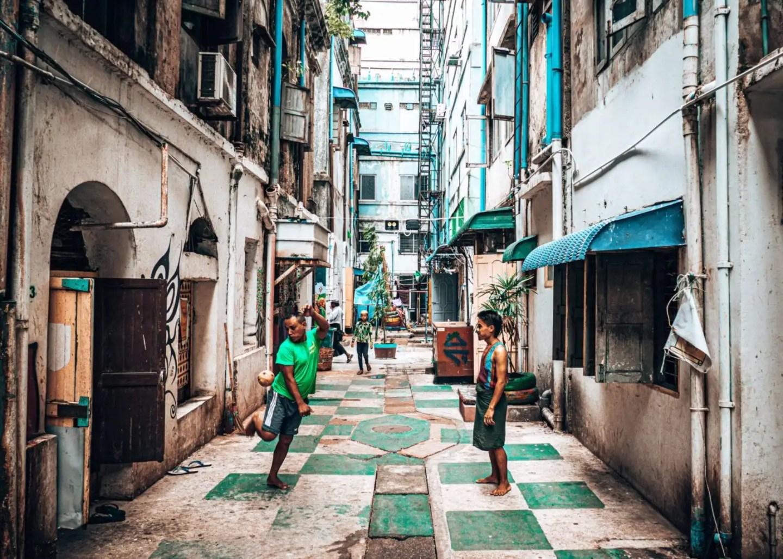 Yangon Street Art Sepak Takraw
