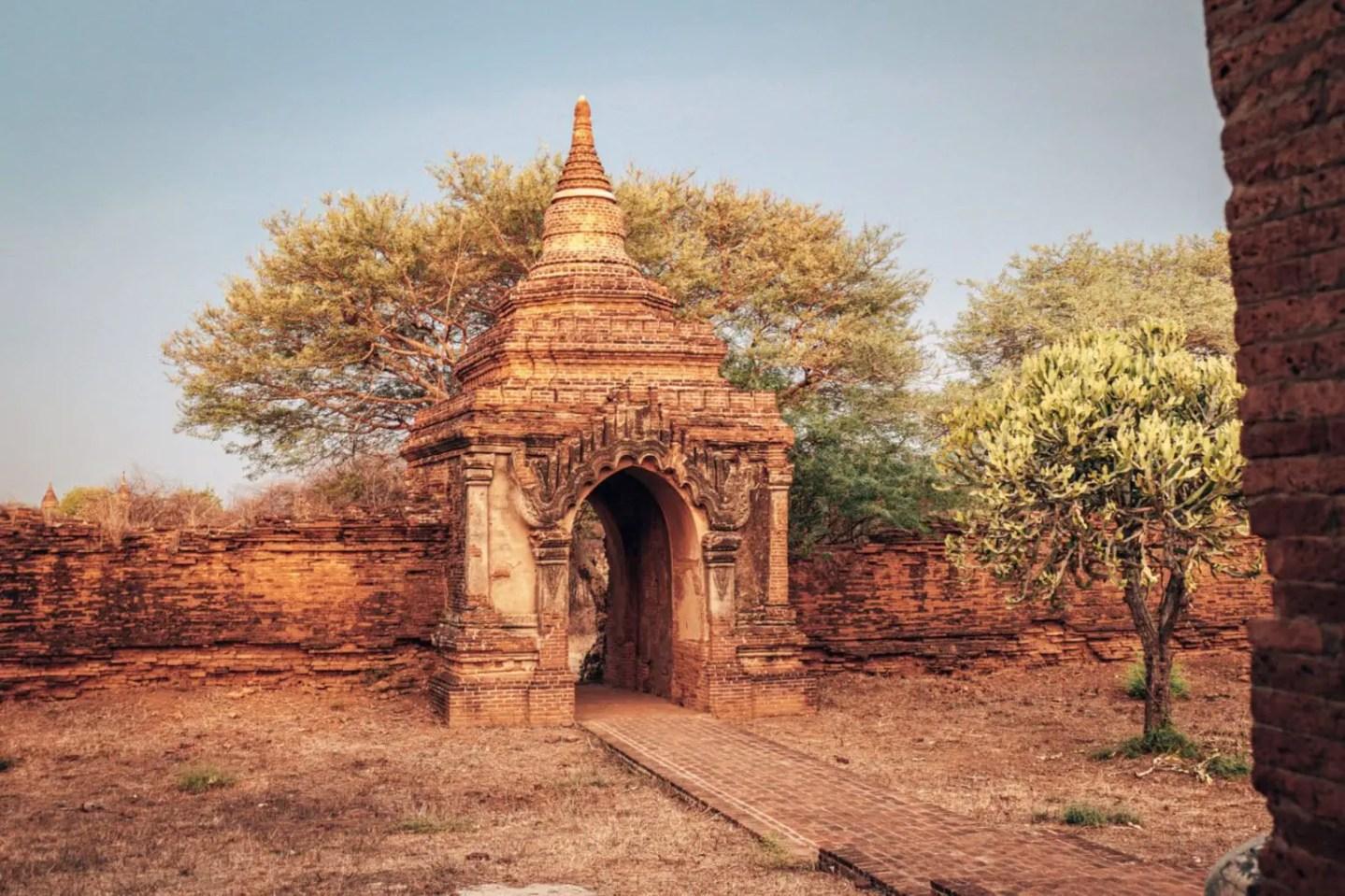 Guni temple entrance Bagan temple guide