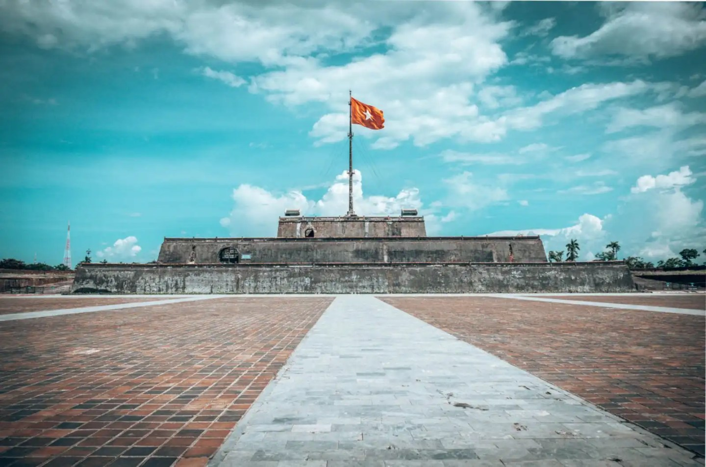 Hue stage of flag, Hue Vietnam