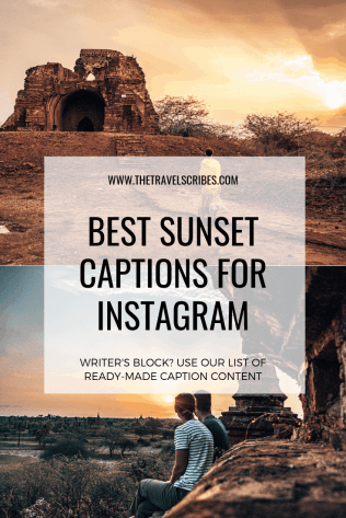 Pinterest Graphic - Instagram Sunset Captions and Sunset Quotes