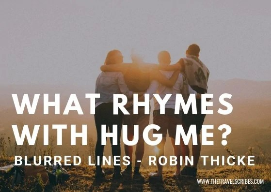 Cute captions for pictures of yourself - Graphic for What Rhymes with Hug