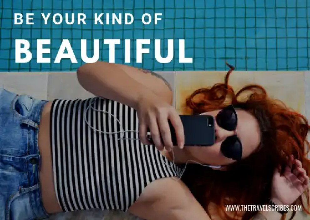 Captions for pictures of yourself - Graphic for Be your kind of beautiful