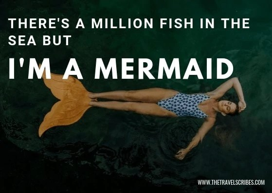 Image quote - There's a million fish in the sea, but I'm a mermaid