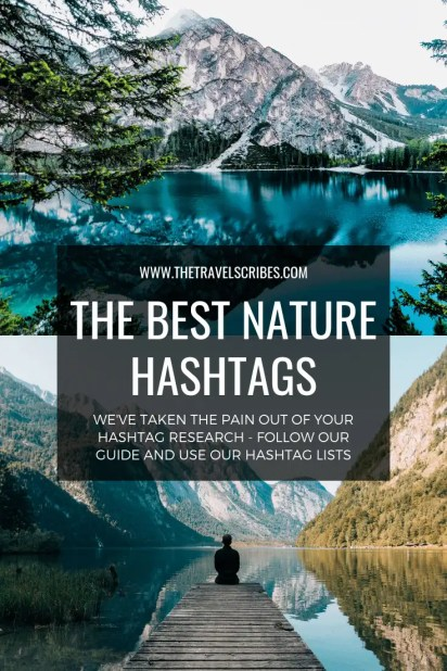 Pinterest graphic for Best Nature Hashtags