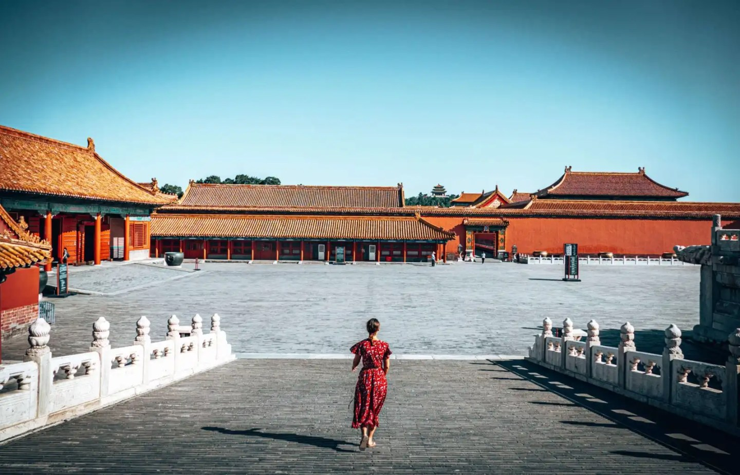 Picture of girl in the Forbidden City in Beijing, China
