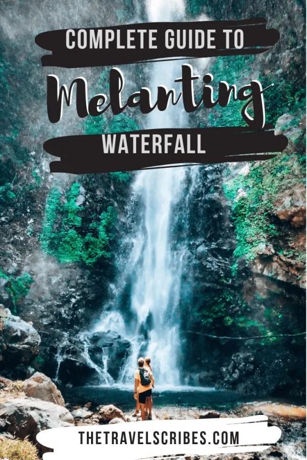 Melanting Waterfall - pinterest graphic