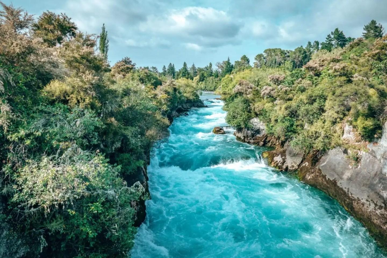 Huka Falls near Lake Taupo