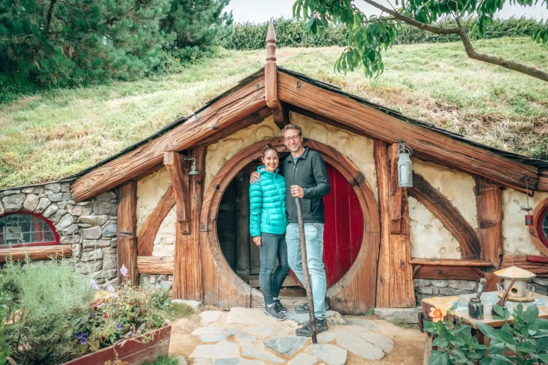 Couple at Hobbiton