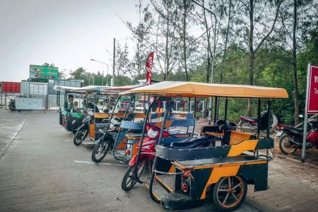 Tuk tuk taxi on Koh Lanta