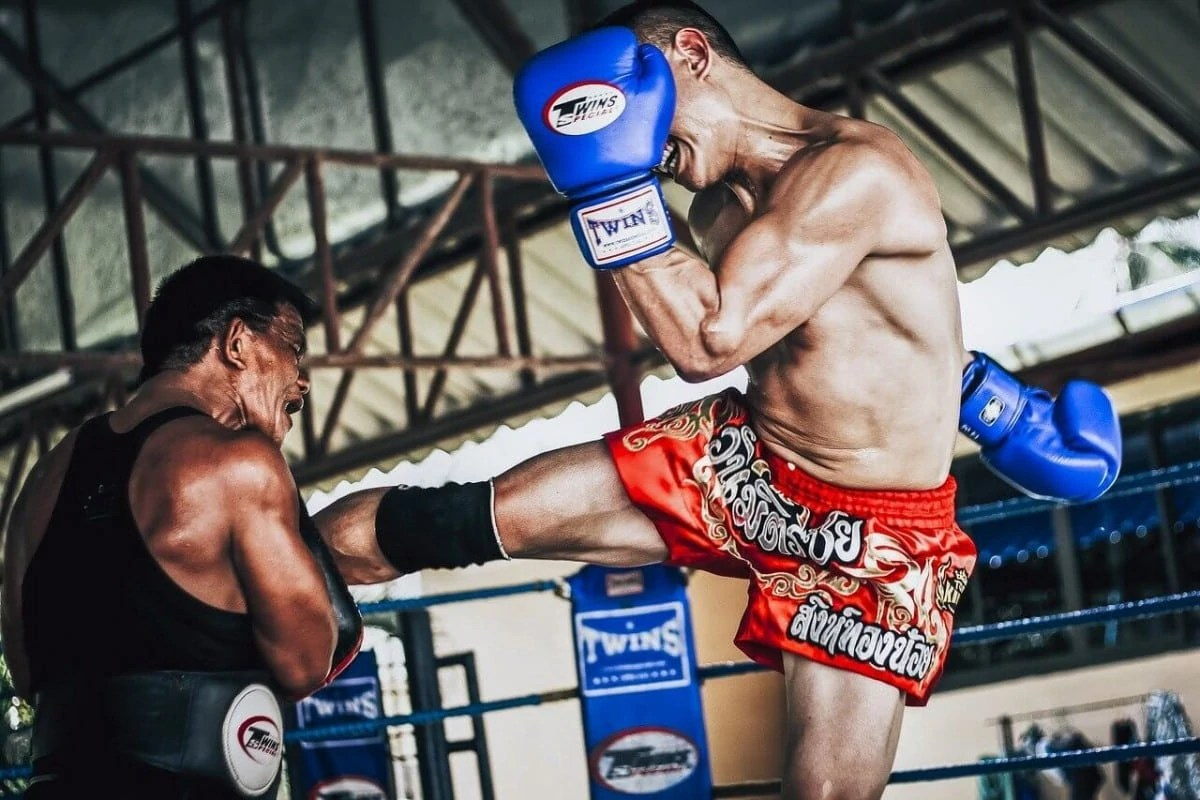 Muay Thai boxing on Phi Phi