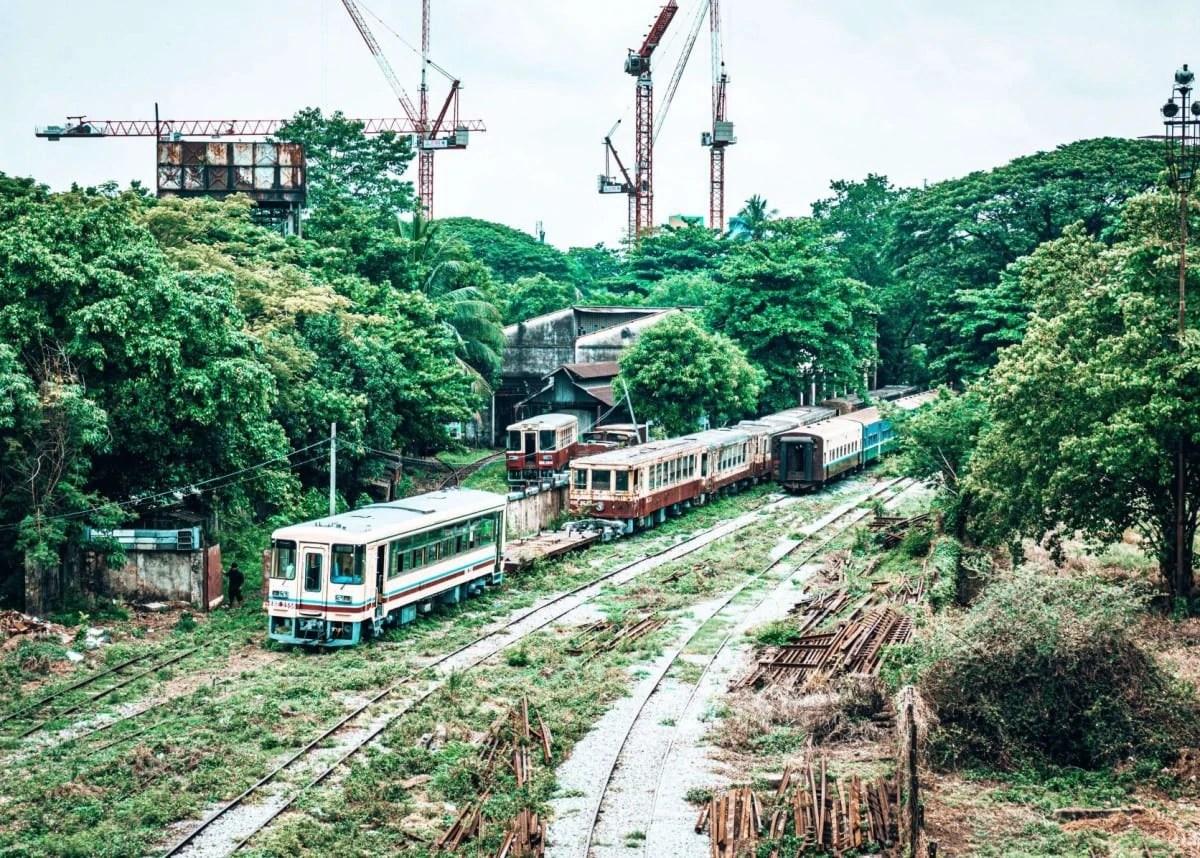 Yangon to Bagan train