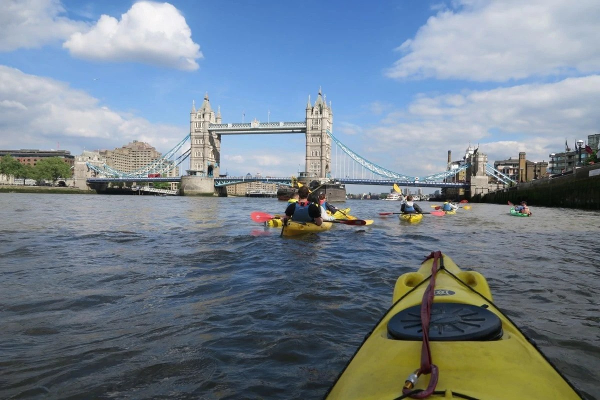 Non touristy things to do in London - Kayaking the Thames