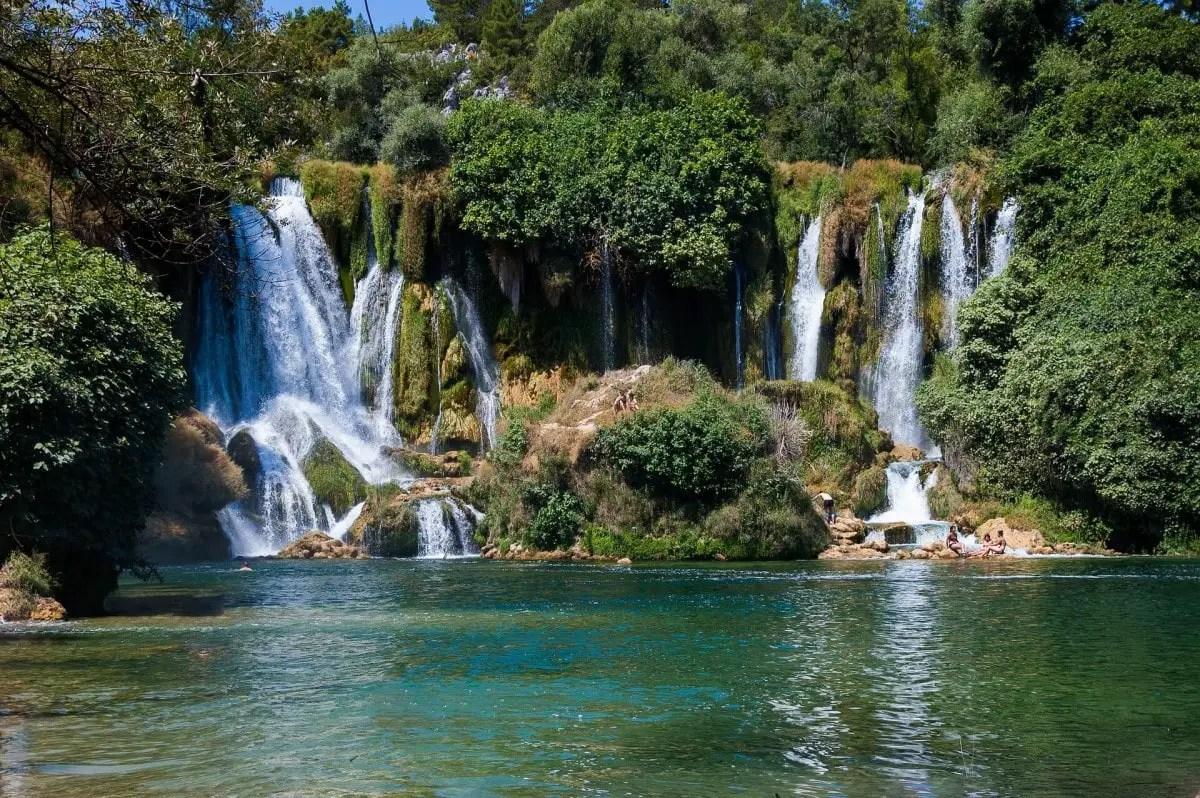 Head to Kravica Falls in Bosnia, as a day trip from Dubrovnik Croatia