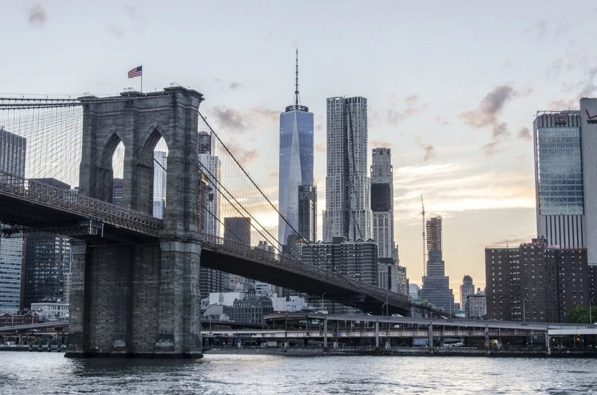 Landmarks in America - Brooklyn Bridge in New York - USA