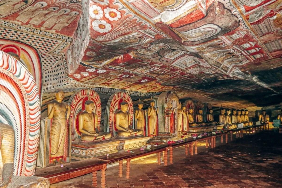 Ancient architecture in Sri Lanka - Dambulla Cave Temple