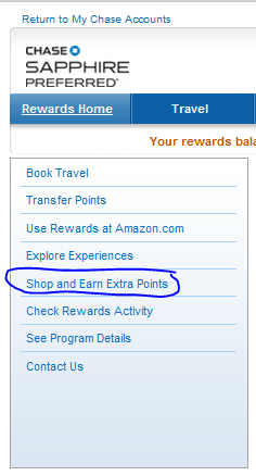 Ultimate Rewards shopping portal