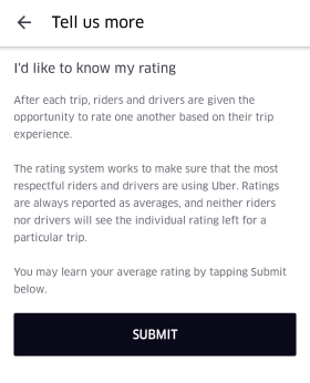 What is my Uber rating