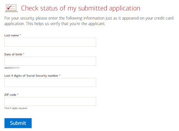 How to Check Your Bank of America Credit Card Application Status online