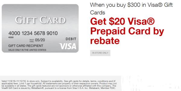 stapleseasyrebates on visa gift card purchases November 6 2016