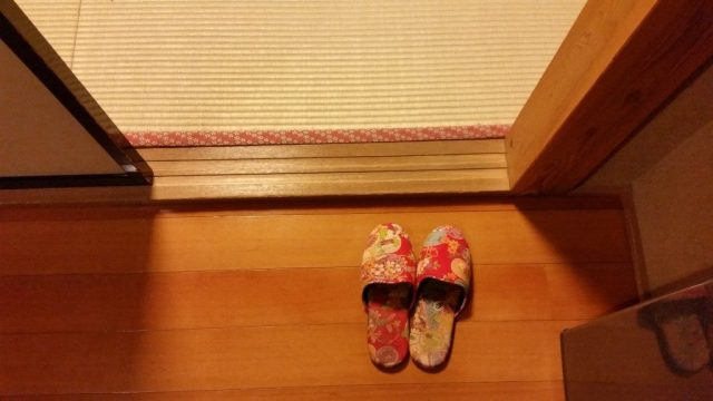 when you stay in a traditional japanese ryokan tips - wear slippers but not on tatami floor