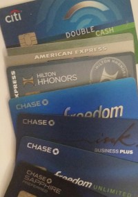 credit cards in my wallet