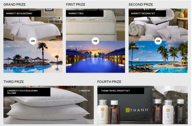 marriott hotel bed sweepstakes 2016