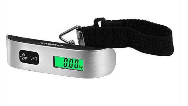 Digital Luggage Scale is one of the best travel stocking stuffers