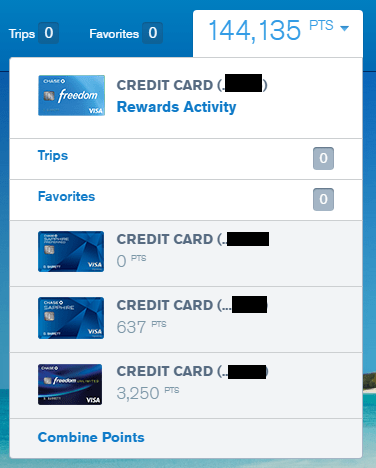 how to transfer ultimate rewards points between accounts