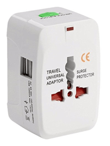 universal travel adaptor is one of the best stocking stuffers for travellers